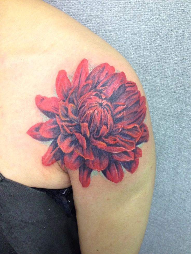 Red flower tattoo new tattoo by lucy pinterest for Red flower tattoo