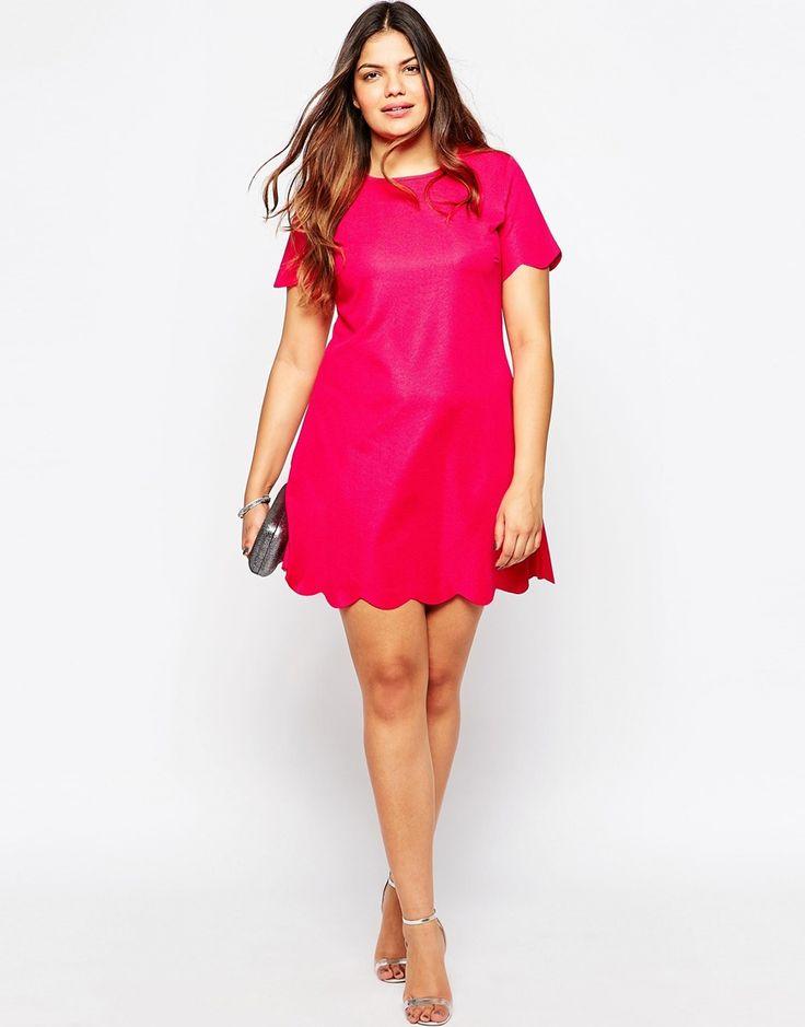 Image 4 ofPraslin Short Sleeve Scalloped Hem Dress