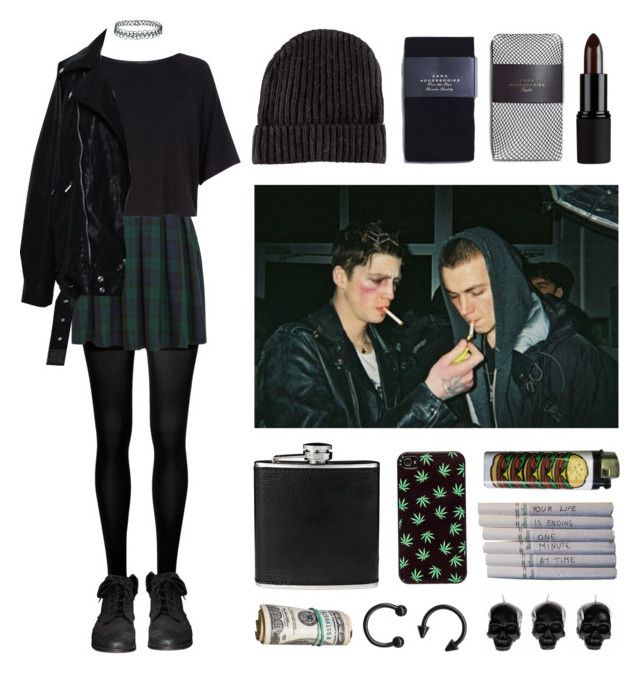 """Grunge set"" by baludna ❤ liked on Polyvore featuring SPANX, Topshop, Zara…"