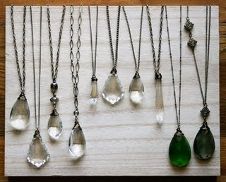 Antique Chandelier Crystal Necklaces by @simonandruby