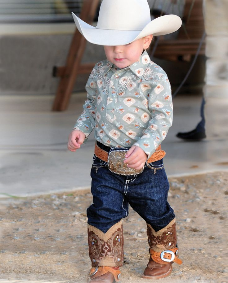 All Around Baby™ by Wrangler® Boy's Boot Stitch Jeans - Infant::Fort Western Online