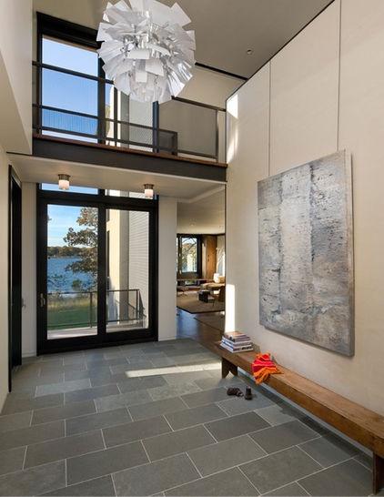 modern entry by Blaze Makoid Architecture - slate flooring