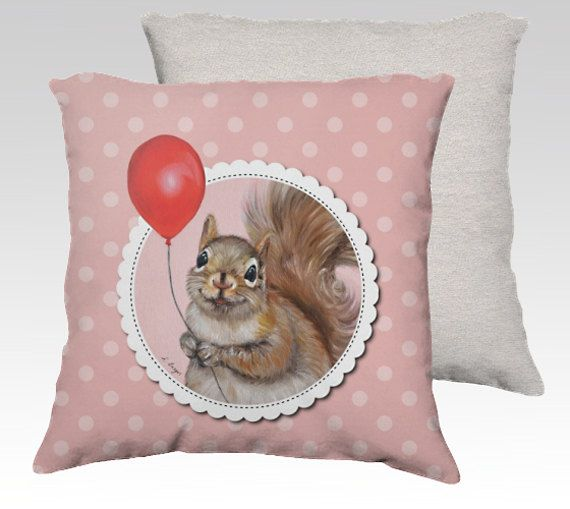 Squirrel cushion made to order  squirrel pillow by MimoCadeaux, $49.00