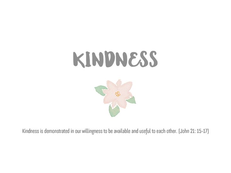 Kindness, The Fruit of Holy Spirit