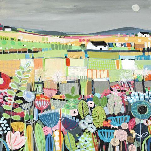 Moonlit Flowers - Janet Bell