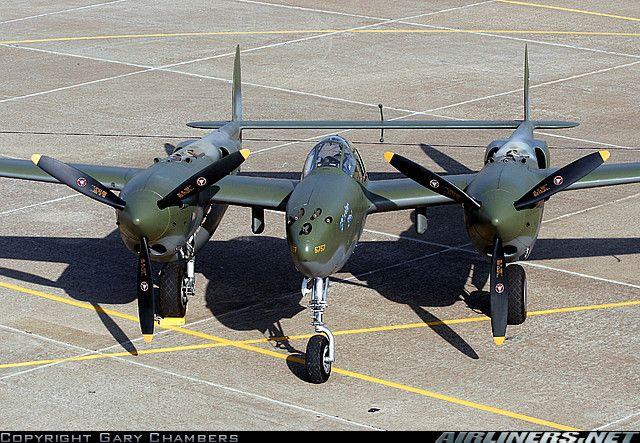 Old school American fire power!  Lockheed P-38F Lightning