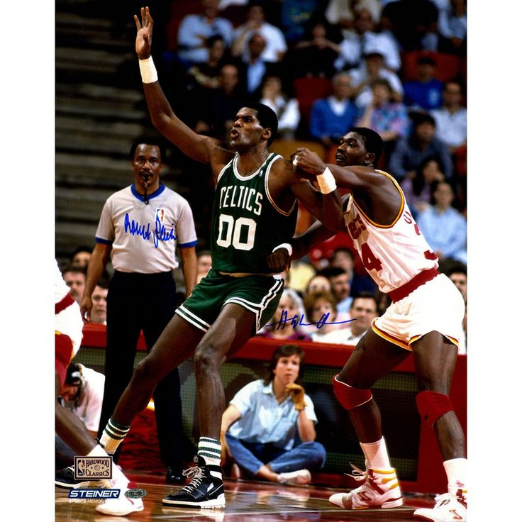 Hakeem Olajuwan/Robert Parish Dual Signed 16x20 Photo