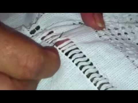 Deshilado Muestrario 8 corazón punto de cruz - YouTube