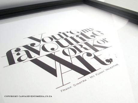 Framed special song lyrics - The Canvas Collection