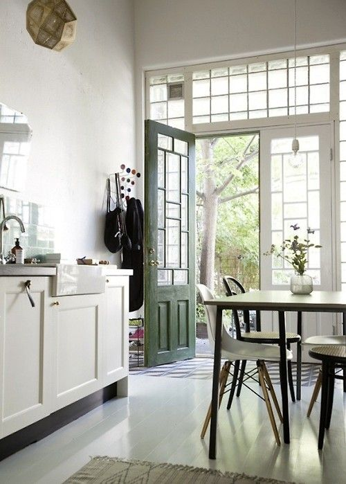 bright eclectic kitchen