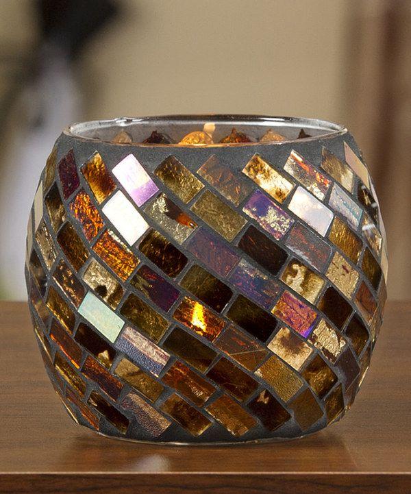 Look at this #zulilyfind! Glass Mosaic Tealight Holder by Giftcraft #zulilyfinds