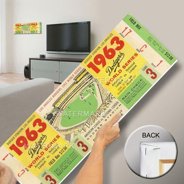1963 World Series Mega Ticket - Los Angeles Dodgers - $79.99