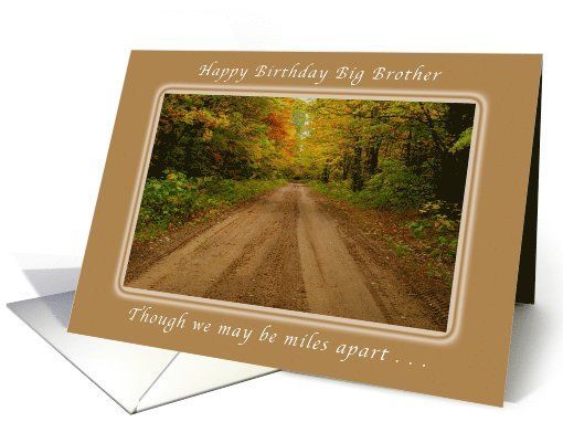 Happy Birthday Big Brother, Miles Apart, Country Road card