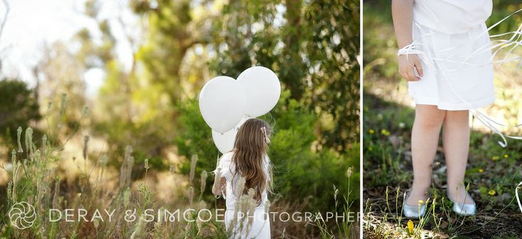 What to wear to a family portrait? Dress little girls in a fresh white and silver colour scheme! Photography by DeRay & Simcoe