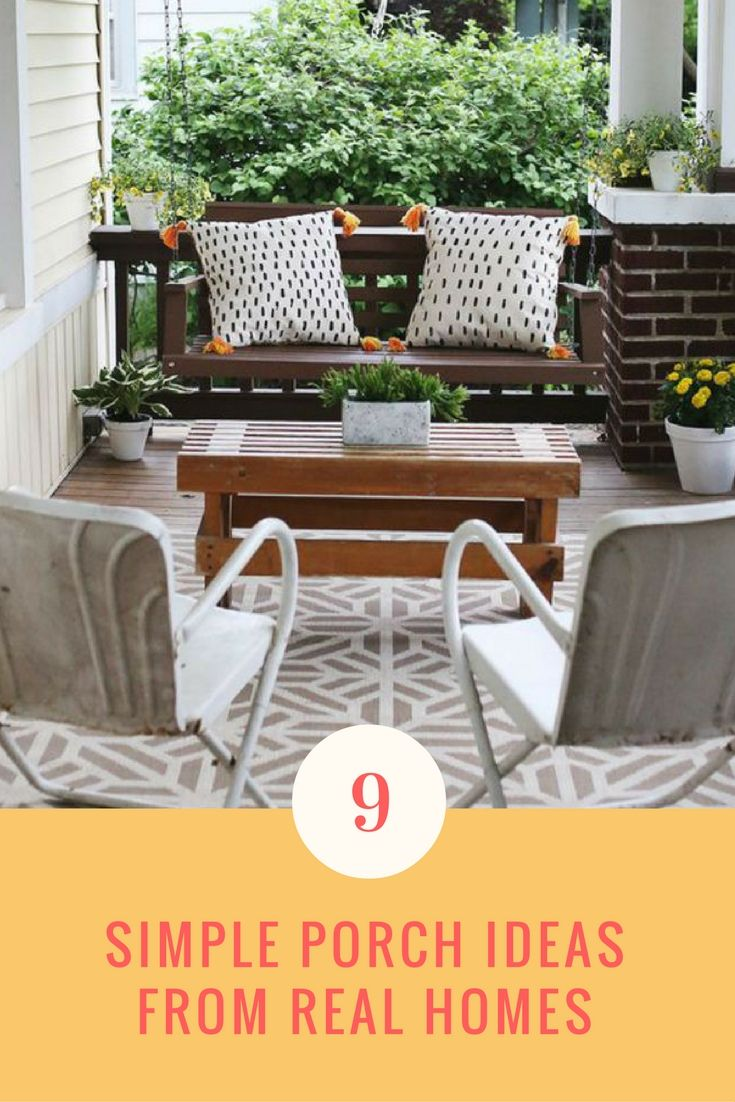 Delightful 9 Simple Porch Ideas To Steal From Real Homes Awesome Design