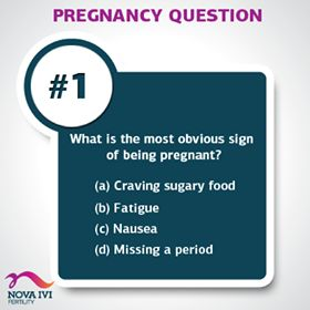 The most obvious signs of being pregnant? Well, this is a pretty simple one!