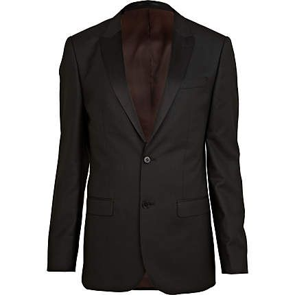 Black tux slim suit jacket €45.00