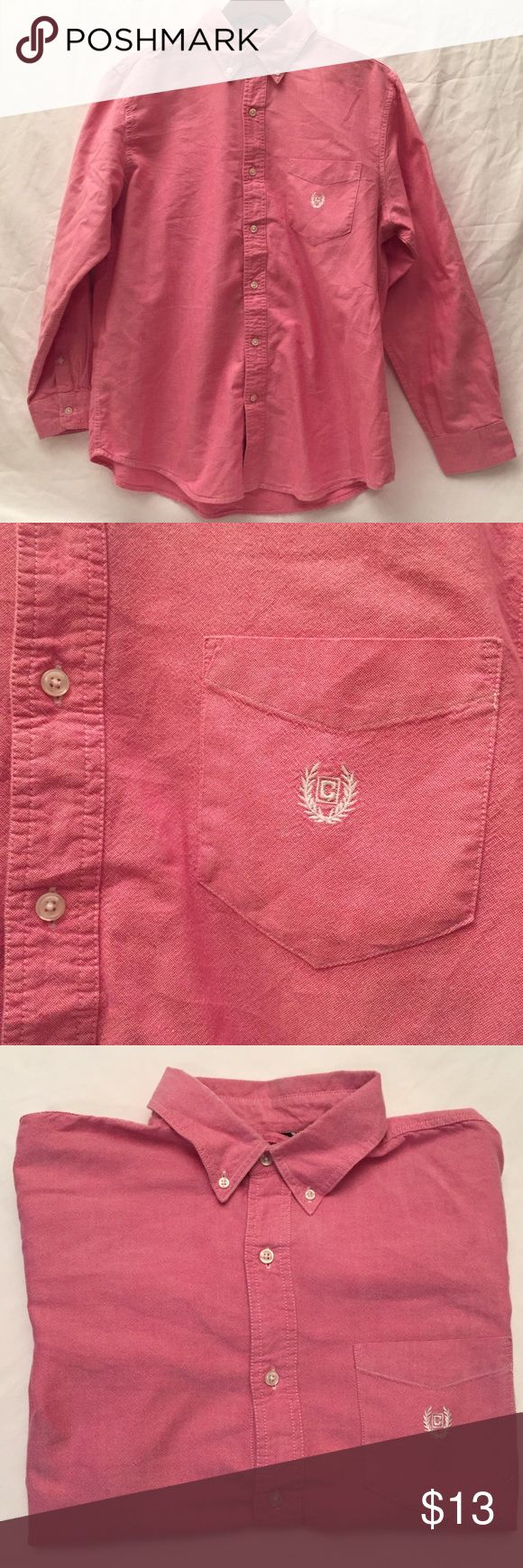 Men's Chaps Shirt Light red button up / Size Large Chaps Shirts