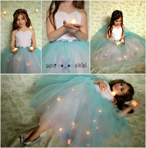 Light up Princess Dress - Seasonal Sewing Series - So Sew Easy