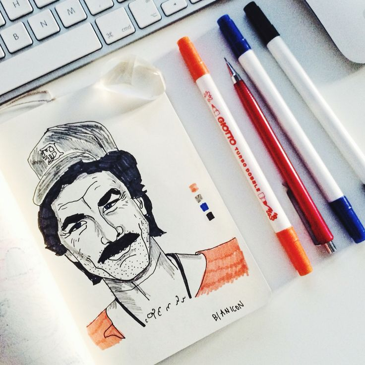 Tom Selleck illustration by @bianicon  #bianicon #minimal #illustration #unreal
