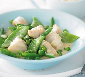 Amazing low-calorie green fish curry