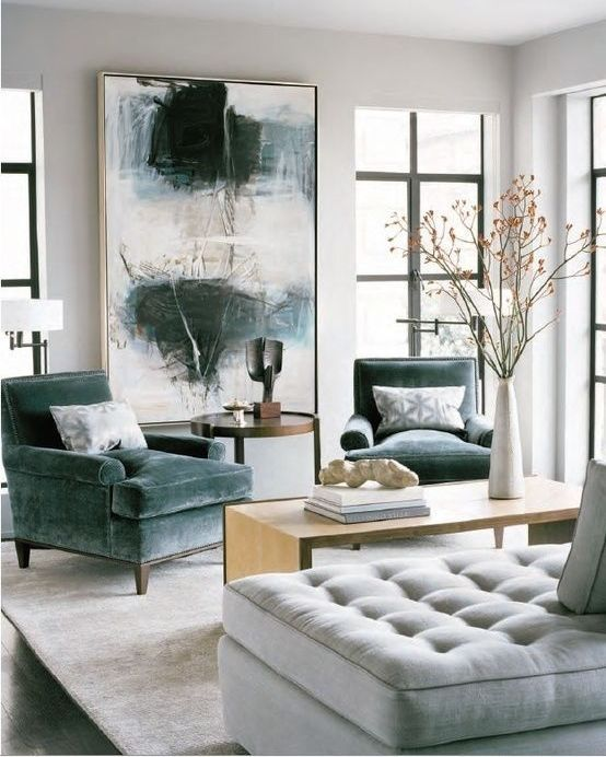20 Really Amusing Living Rooms With Combinations Of Grey U0026 Green Part 33