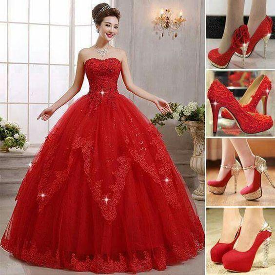 Vestidos de xv años color rojo Para cerrar con broche de oro con la temática inspirada en el color rojo, quiero compartirles unos diseños de vestidos en este color ideal