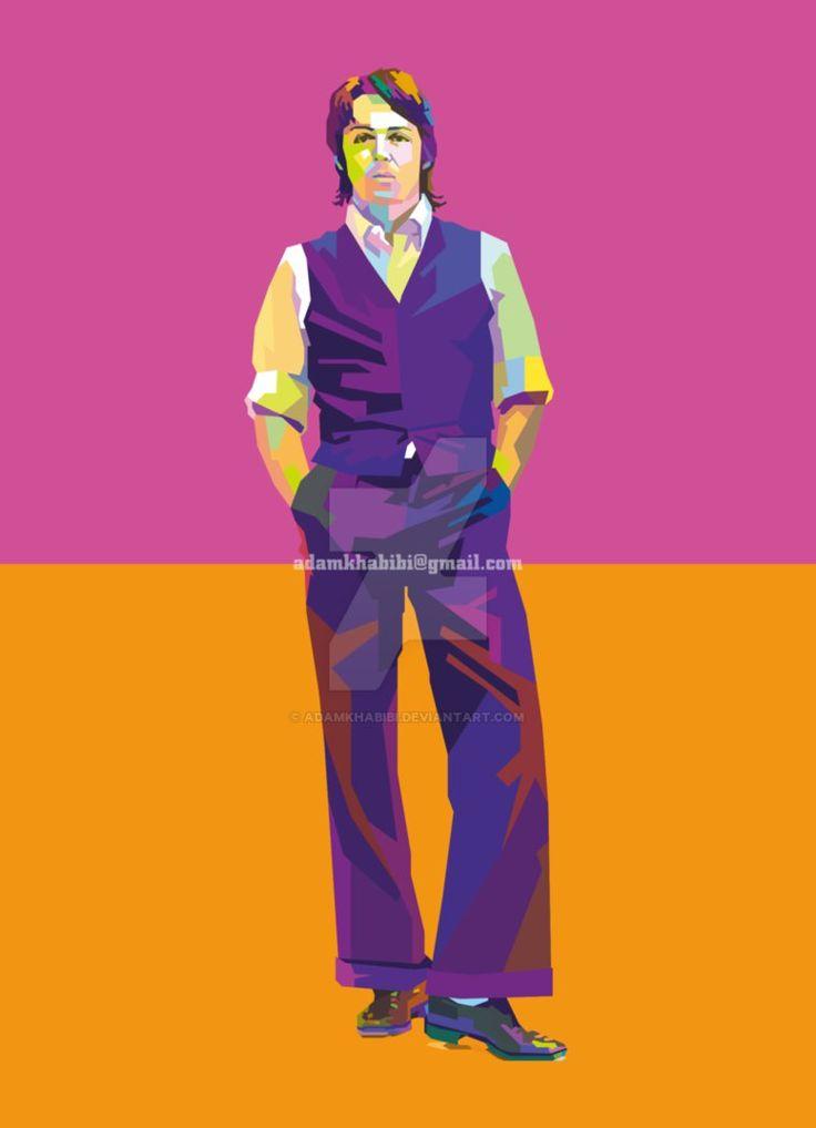 Paul McCartney in Wedha's Pop Art Portrait (WPAP) by AdamKhabibi