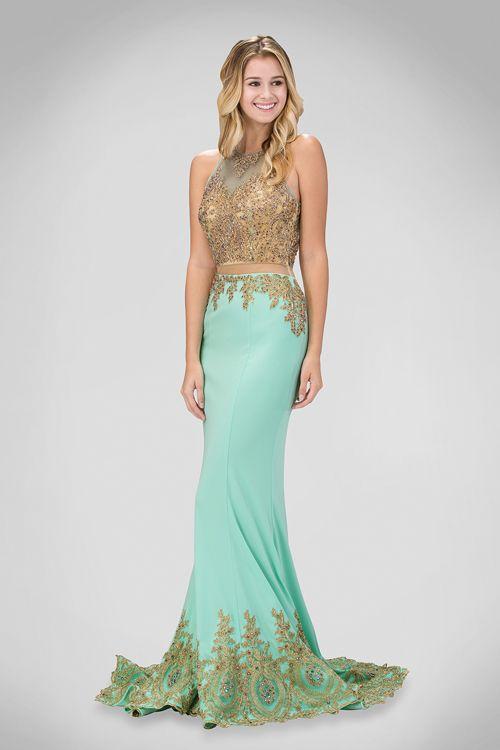 Luxusné tyrkysové šaty na reprezentačný ples