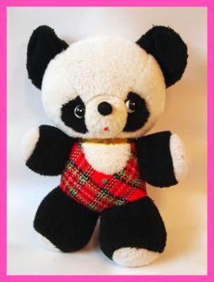 Panda stuffed Showa retro feel - milbeetoy