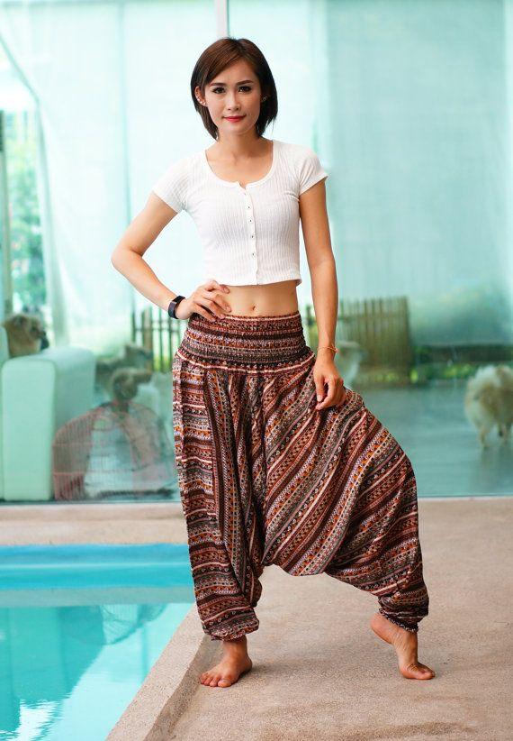 Harem broek strepen met Thaise broek Rayon broek Boho