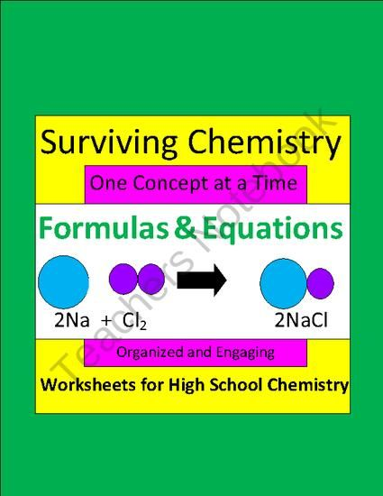 Formulas & Equations: Organized & Engaging Worksheets for High School Chemistry product from E3Chemistry on TeachersNotebook.com