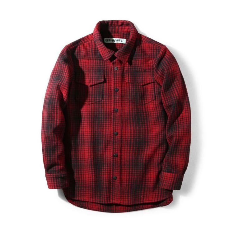 This checked flannel shirt from Off-White clothing is the perfect combination of classic and modern design. It's made from cotton and designed with a spread collar and bold rubberized print at the back. Check out different colors at shopurl.com  #OFFWhite #OFFWhiteClothing