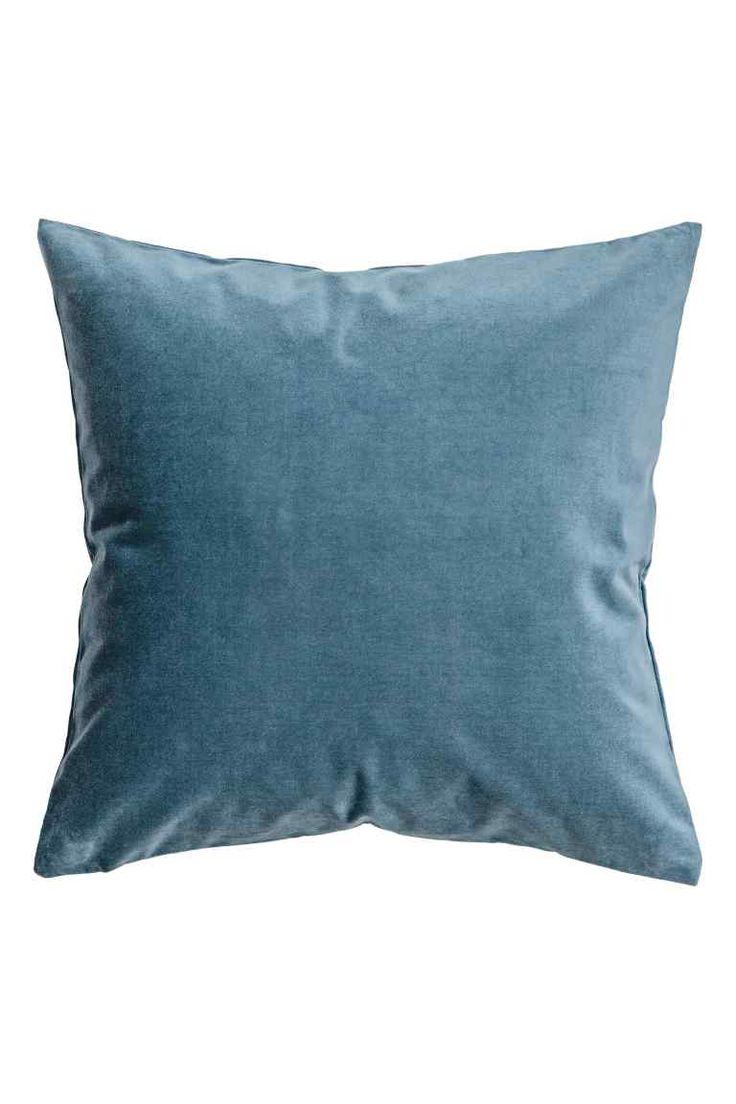 Velvet cushion cover - Pigeon blue - Home All | H&M GB 1