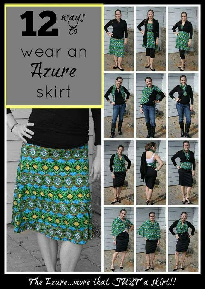 Different ways to wear an Azure skirt.