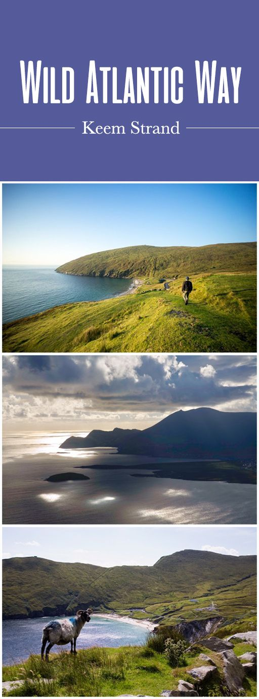 On Ireland's edge is Achill Island, a peaceful, windswept island off the coast of County Mayo. Of the little island's five Blue Flag beaches, Keem Strand is perhaps the finest: a sweep of soft sand within a heavenly, secluded valley at the island's western tip. A stunning cliff-top road arcs over the strand, often populated by wizened sheep that roam the wild grasses. And on the opposite side of the bay: the deserted village of Bunowna…the perfect spot for exploration.