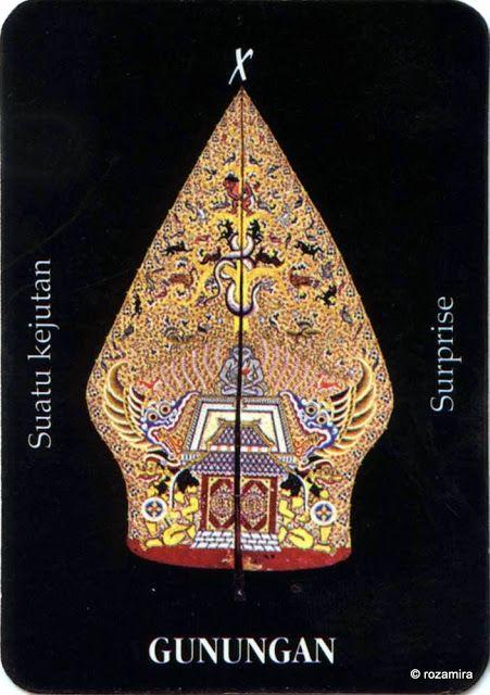 X. The Wheel of Fortune (Gunungan) - Tarot Wayang (Indonesia) by Ani Sekarningsih