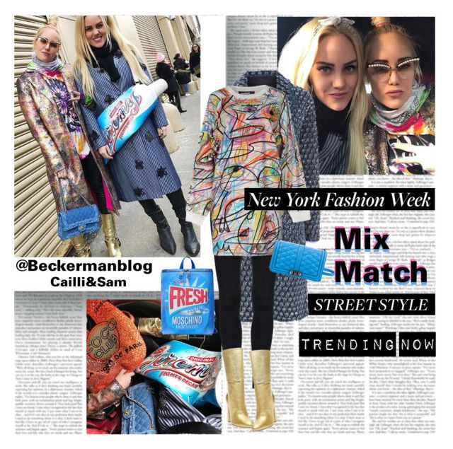 NYFW Street Style Trend Mix&Match by stylepersonal on Polyvore featuring polyvore, moda, style, Jeremy Scott, Sonia Rykiel, Steve Madden, Rebecca Minkoff, fashion, clothing and NYFW