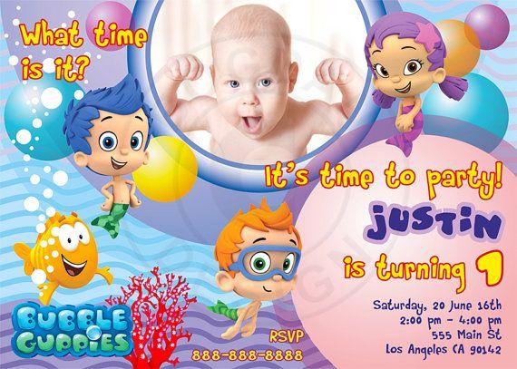 Bubble Guppies Invitation with Photo  Bubble Guppies