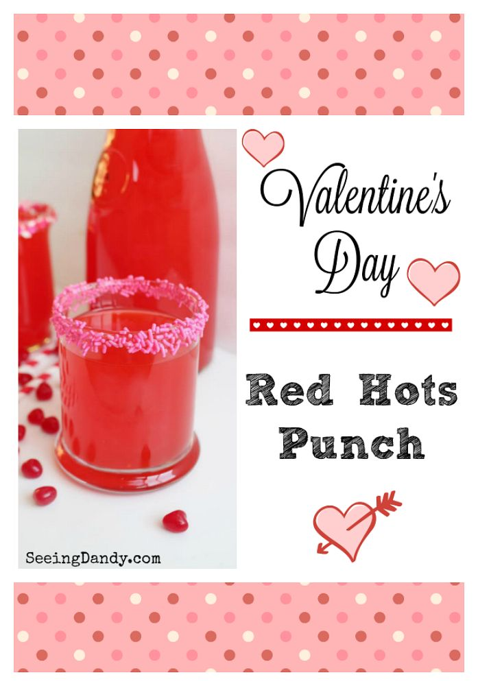 Delicious Valentine's Day punch recipe. Perfect for school parties! #valentinesday #recipes #valentines
