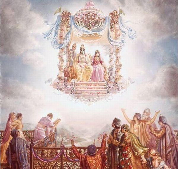 Lord Rama's triumphant return to Ayodhya.