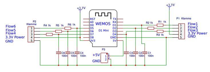 WLAN Impulszähler  für  flow Sensor oder Stromzähler mit D1 mini WeMos NodeMcu, ESP-12F