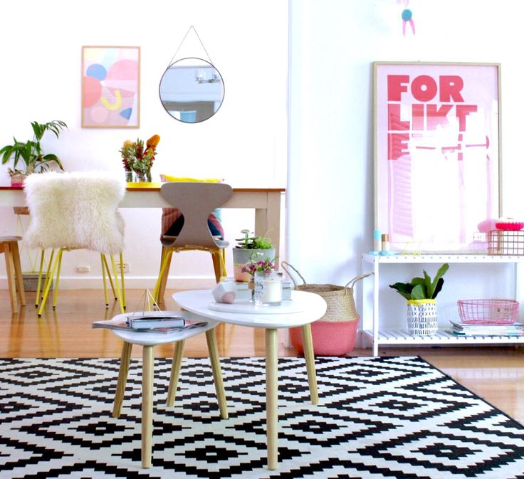 My loungroo me is a full of colour & and mixed with a Scandi vibe! Via @k_bloves
