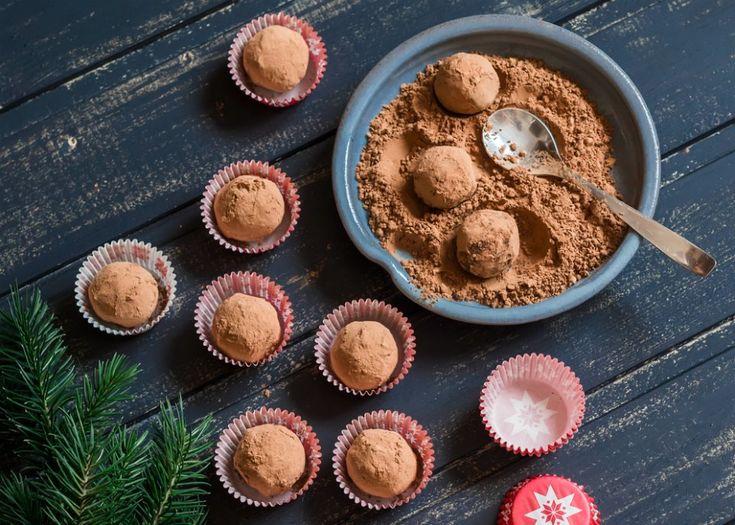 christmas rum truffles