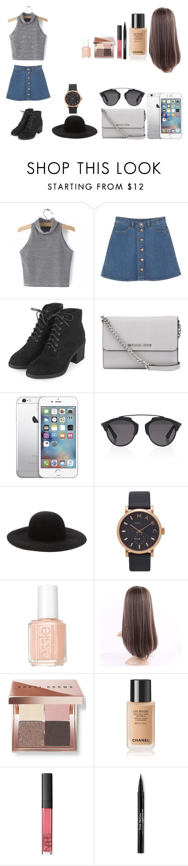 """""""Untitled #481"""" by kalieh092 on Polyvore featuring Monki, Topshop, MICHAEL Michael Kors, Christian Dior, Forever 21, Marc Jacobs, Essie, Bobbi Brown Cosmetics, NARS Cosmetics and Trish McEvoy"""
