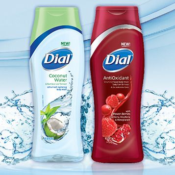 """""""Try NEW Dial® Coconut Water & AntiOxidant Body Wash"""" I entered to win. Enter Now! New Dial® Coconut Water and AntiOxidant Body Wash gives your skin what it needs to feel healthy, smooth and beautiful – and you could win a sample of both! Register for your chance to win now."""