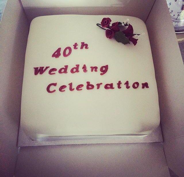 40th wedding celebration