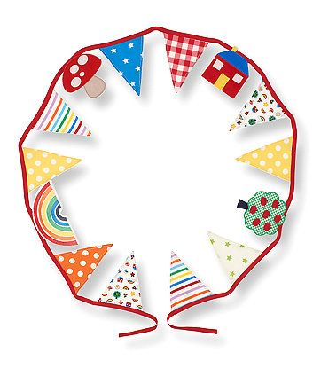 This multi colour and vibrant bunting is part of the Little Bird collection and adds the finishing touches to a Nursery, Kids bedroom or playroom.