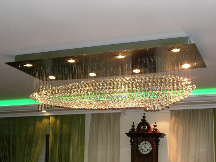 Kryształowy sterowiec. Airship made of crystal balls. Crystal chandelier