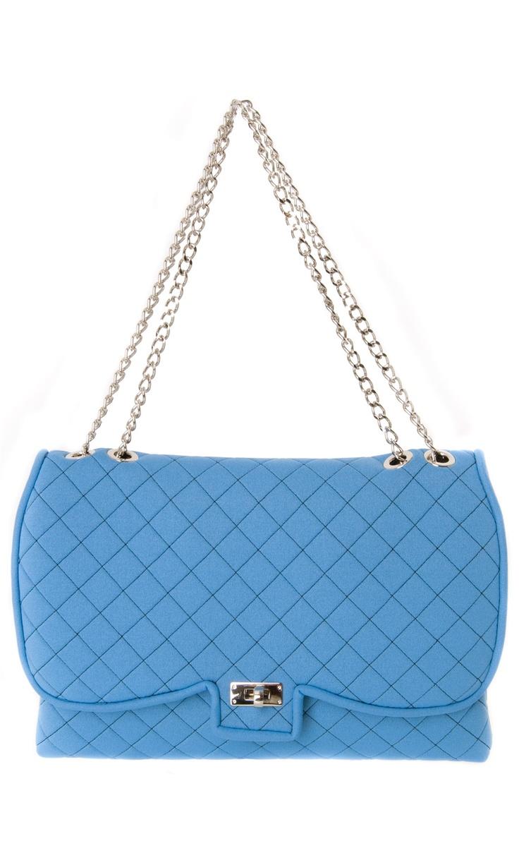 Leghilà butterfly light blue matelassè crossbody #bag